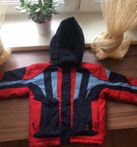 Куртка зимняя тёплая размер 122