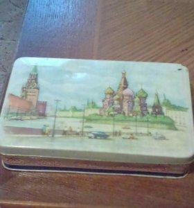 Антикварная коробка из под конфет СССР 1930 г.