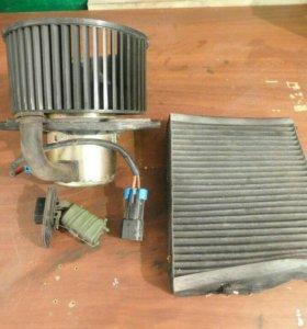 Двигатель печки ваз 2112