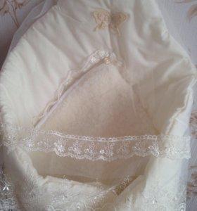 Конверт-одеяло на выписку  Jolly baby