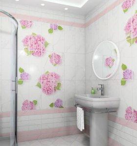 ПВХ панели гортензия для ванны туалета кухни 3D 3д