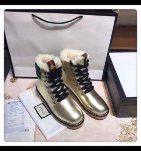 Зимние ботиночки GUCCI,под заказ