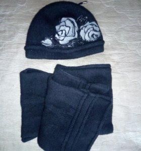 Комплект шапка + шарф.