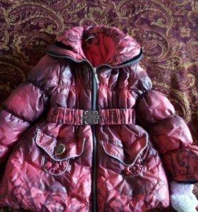 Куртка-пуховик зимний на 5-6 лет