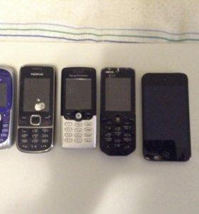 4 телефона + iPod