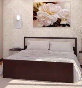 Фиеста двуспальная кровать+ Матрас, доставка.