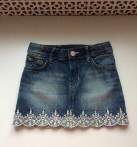 Джинсовая юбка H&М. рост 104