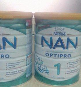 NAN 1 молочная смесь 800гр
