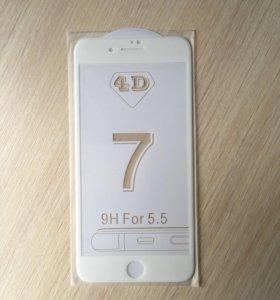 4D стекло для iPhone 7plus, 8plus
