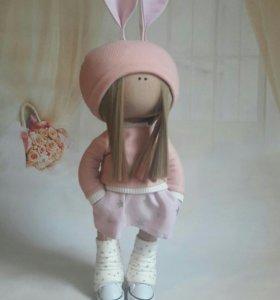 Кукла-зайка ручной работы