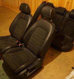 VW Passat B6 салон кожа алькантара