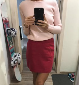 Малиновая юбка H&M