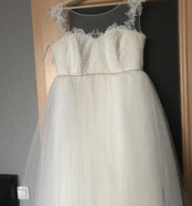 Свадебное платье+подъюбник 2 кольца