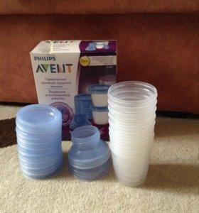 Контейнеры д/хранения грудного молока Avent