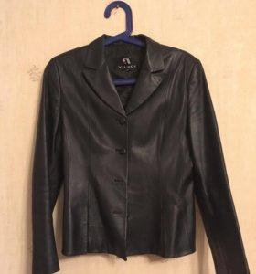 Пиджак кожаный. Размер 44-46