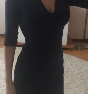 Трикотажное тёплое платье mango