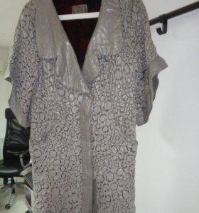 кожаное плащ - пальто