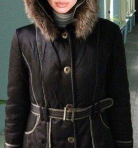 Пальто зимнее натуральный мех
