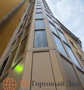Остекление фасадное, алюминиевые конструкции