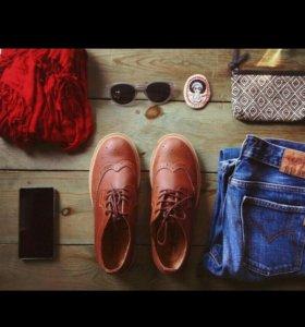 Броги, осенние ботинки, новые