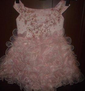 Платье нарядное на корсете