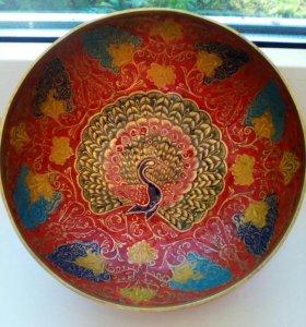 Чаша латунь с ручной росписью