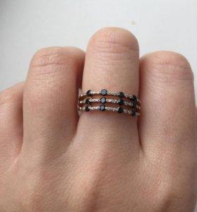 Золотое кольцо с фианитами 18 р