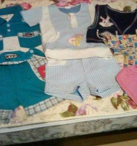 Дет.костюмы,жилетка,футболка,шорты