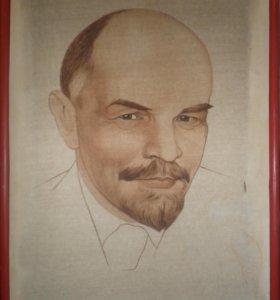 Портрет В. И. Ленин. Авторская работа (Hand made)
