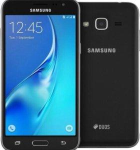 Телефон Смартфон Samsung Galaxy J3 (2016) (черный)