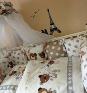 Комплект в кроватку Мишки