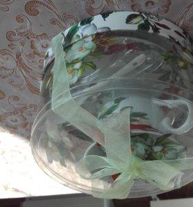 набор кружка тарелка и ложка