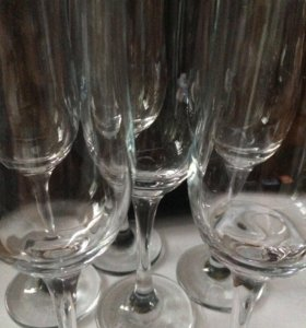 Свадебные бокалы, бутылки