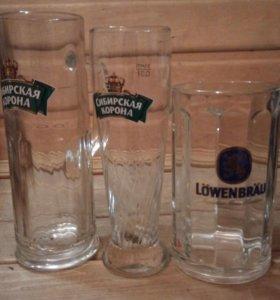 Кружки и бокалы пивные