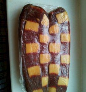 Вяленое мясо кабана шпигованое