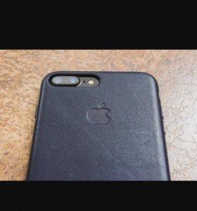 Чехол оригинальный кожаный айфон 7+
