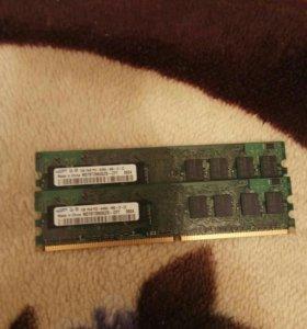 DDR2 оперативная память 1gb