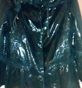 Кожанная куртка с алмазной обработкой