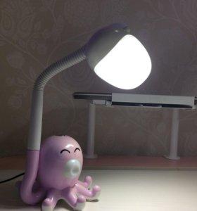 Лампа настольная с ночником.
