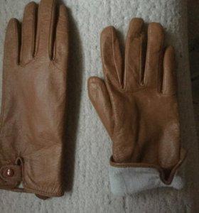 Перчатки нежнейшие кожаные терракотового цвета