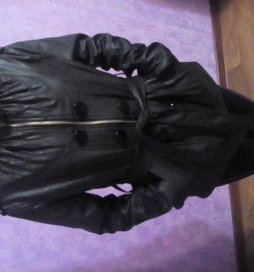 куртка черная кожаная демисезонная