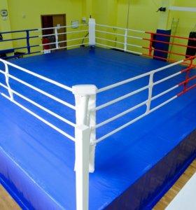 Борцовский ковер для ринг синий четвёрка