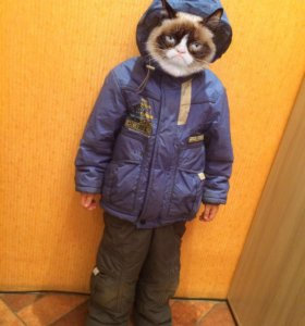 Костюм зимний на мальчика, тёплый, размер 116 см