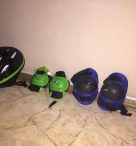 Шлем с накладками.
