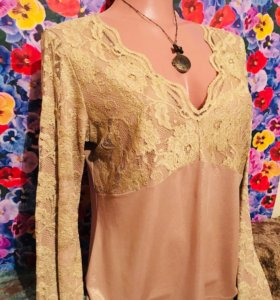 Блузка 👚 с кружевом