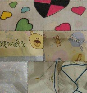 Постельное белье для детской кроватки + полотенце