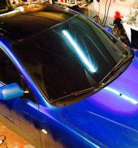 Оклейка крыши авто плёнкой