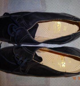 туфли черные из натуральной кожи