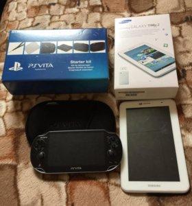 PS Vita,Galaxy Tab2,LG телефончик,на iPhone 5s