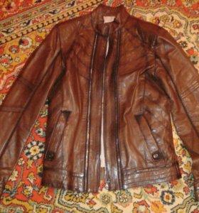 Кожаная куртка мужская,Турция,размер 48. Очень кач